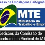 Comissão de enquadramento sindical do MTE apresenta decisão sobre embalagens cartográficas