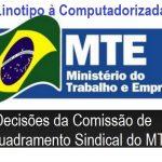 Comissão apresenta resultado de enquadramento sobre a transformação da linotipia para o Computadorizado nas empresas de jornais e revistas