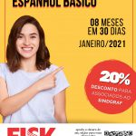 Escola de Idiomas Fisk Timbó oferta curso intensivo de Espanhol Básico