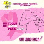 Coordenadoria Feminina da Conatig lança campanha nacional dos(das) gráficos(as)Toque de Amor pela Vida